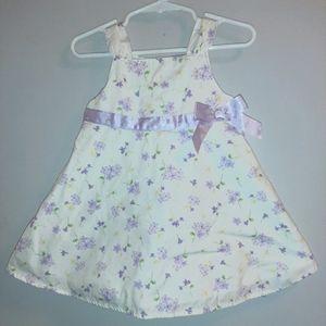 Vintage Gymboree Lavender Bouquet Dress Bloomers